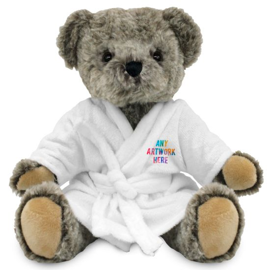 20cm Archie Jointed Bear with Dressing Gown