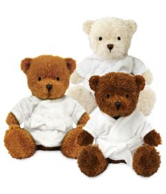 Blank 18cm James Bear with Dressing Gown
