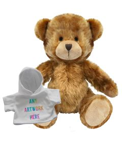 20cm Charles Jointed bear with white hoody