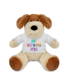 Promotional Darcy Dog Plush Toy 15cm - Printed Soft Toys - Small Soft Toy - Main Image