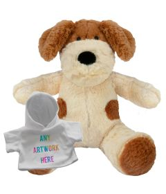 20cm Darcy Dog with white hoody