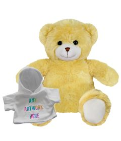 20cm Elizabeth bear with white hoody
