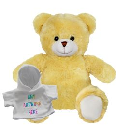 25cm Elizabeth bear with white hoody