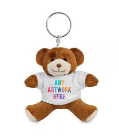 Promotional George Teddy Bear Keyring 9cm - Printed Soft Toys - Small Soft Toy - Main Image