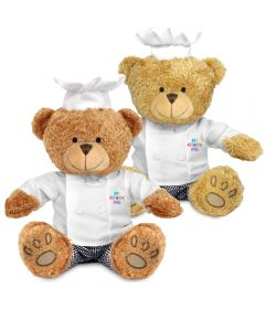 22cm Edward Bear with Chef outfit