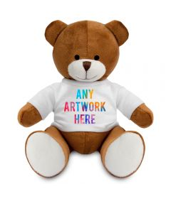Promotional Richard Brown Teddy Bear 20cm - Printed Soft Toys - Large Soft Toy - Main Image
