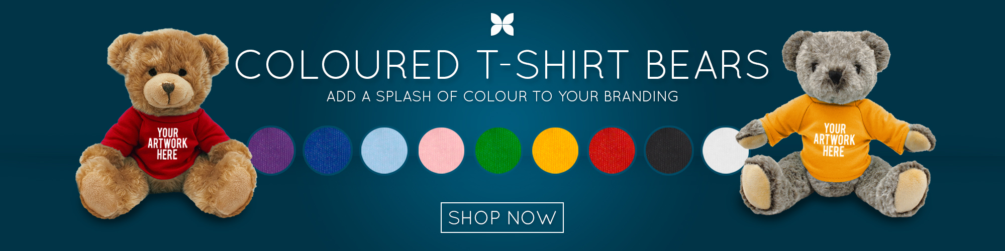 Promotional Products | Printed Soft Toys with Coloured T-Shirts - Add a splash of colour to your Branding
