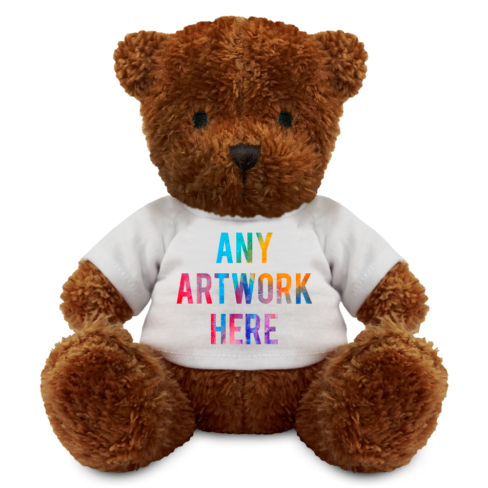 Promotional James I Dark Brown Bear - Printed Soft Toys - Medium Teddy Bear