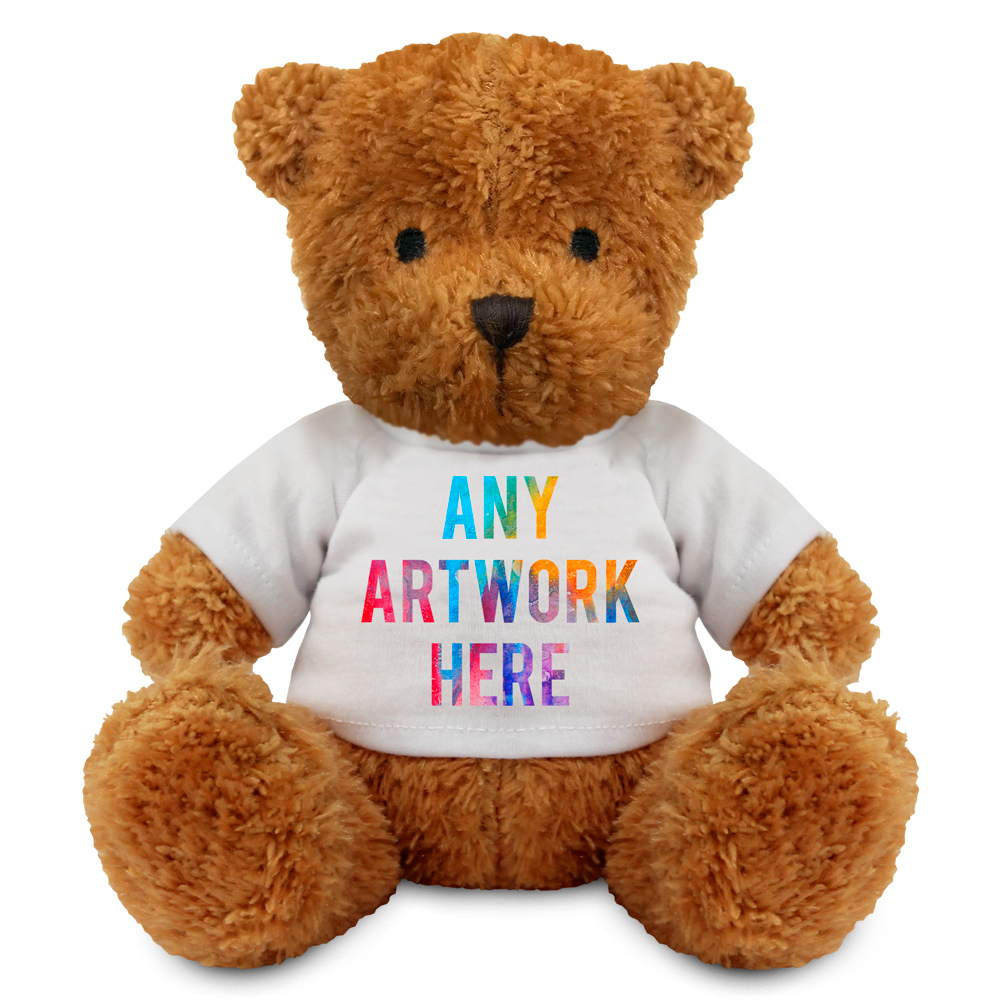 Promotional James II Light Brown Bear - Printed Soft Toys - Medium Teddy Bear