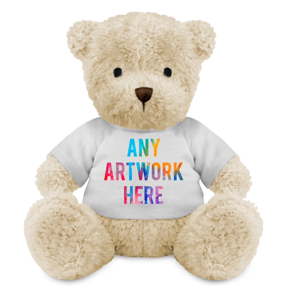 Promotional James III White Bear - Printed Soft Toys - Medium Teddy Bear