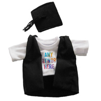 Printed Graduate Outfit branded with Company Logo - Printed Soft Toy Outfit